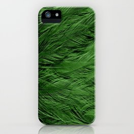 Green Feathers iPhone Case