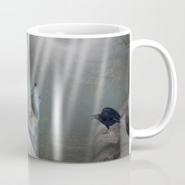 Awesome wolf in the night Coffee Mug