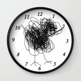Piou the chick Wall Clock