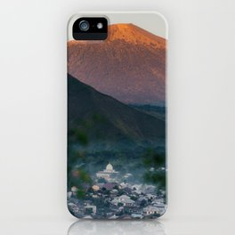 Mt. Rinjani at Sunrise iPhone Case