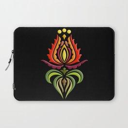 Fancy Mantle on Black Laptop Sleeve