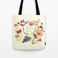 home sweet home Tote Bags featuring Home Sweet Home by Brooke Weeber