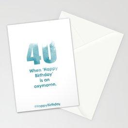 AgeIsJustANumber-40-SkyBurstB Stationery Cards