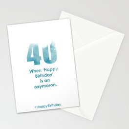 AgeIsJustANumber-40-SkyBurstB Stationery Cards