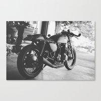 cafe racer Canvas Prints featuring Cafe Racer by olegz