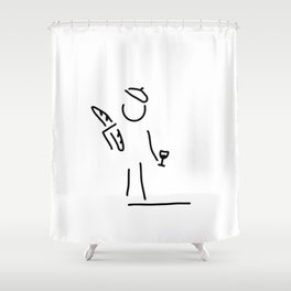 French person Shower Curtain