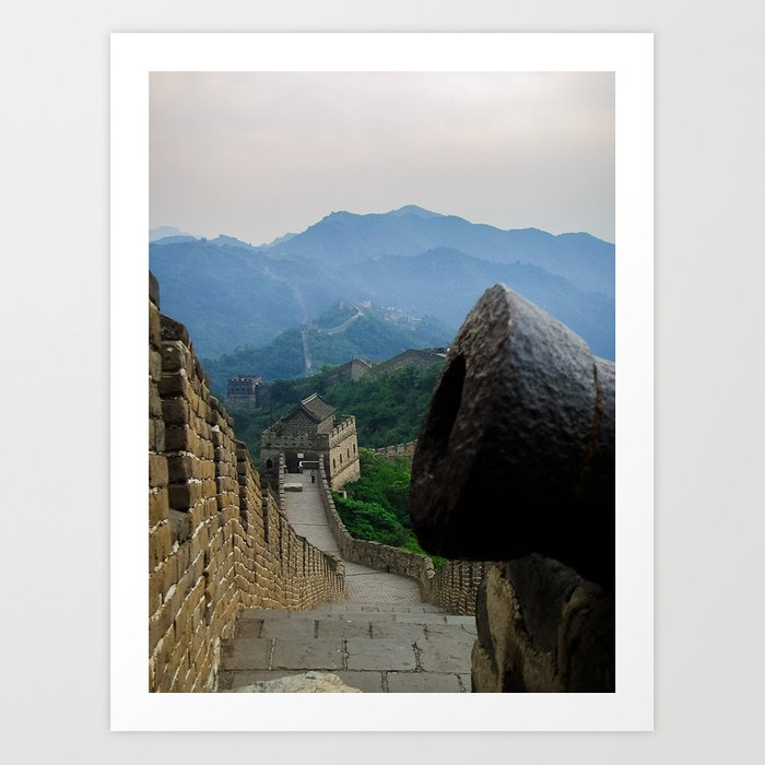 Cannon at the Great Wall of China Art Print