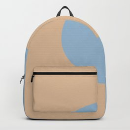 Pastel Blue Peach Minimal Circle Design 2021 Color of the Year Earth's Harmony and Sunwashed Orange Backpack