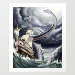 A Fishermen's Nightmare Art Print
