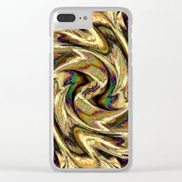 Gold Brown  Rotation Motaion Background Abstact Clear iPhone Case