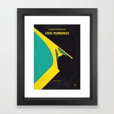 No538 My COOL RUNNINGS minimal movie poster Framed Art Print