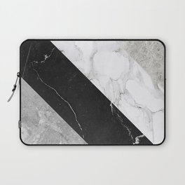 Contemporary Marble Stone Rays Laptop Sleeve