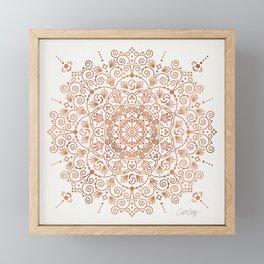 Moroccan Mandala – Rose Gold Framed Mini Art Print
