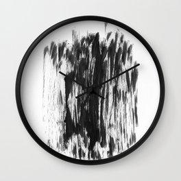 Abstract Dry Brush Wall Clock