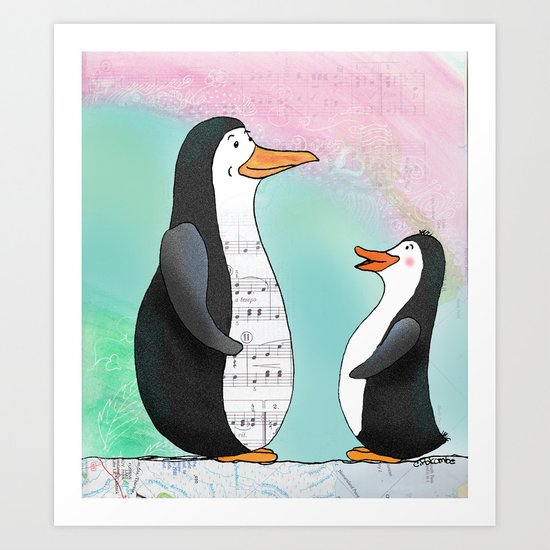 Singing Lesson Art Print