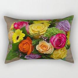 A Touch of Elegance Floral Arrangement Rectangular Pillow