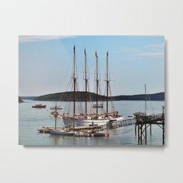 Schooner in Bar Harbor, Maine Metal Print