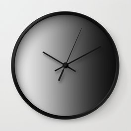White to Black Vertical Linear Gradient Wall Clock