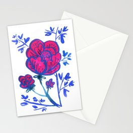 Rose and Japanese Tree Stationery Cards