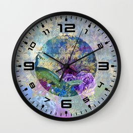 Feather Peacock 20 Wall Clock