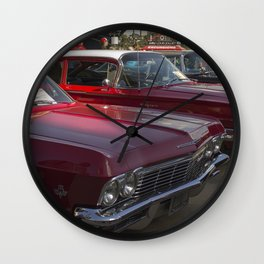 Old-timey Quebec City cars Wall Clock