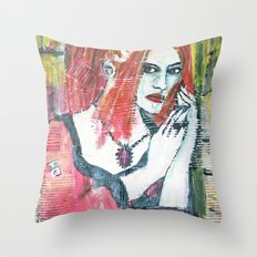 RED HOT GOTH CHICK Throw Pillow