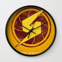samus Wall Clocks featuring Samus Hero by Head Glitch