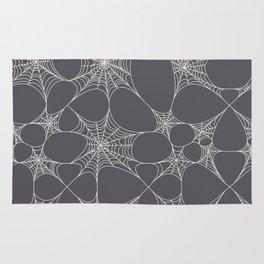 Spiderweb Pattern in Black Rug