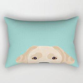 Yellow Lab dog portrait labrador retriever dog art pet friendly Rectangular Pillow