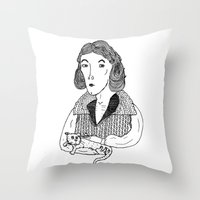 little prince Throw Pillows featuring Little Prince by Eyebrow Fetish