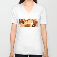 cookies V-neck T-shirts featuring Gammy's Cookies by Naked N Pieces