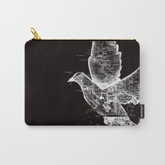 Wanderlust White Carry-All Pouch