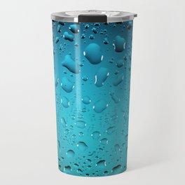 Stylish Cool Blue water drops Travel Mug