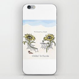 Chillin' in Florida iPhone Skin