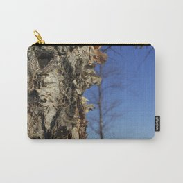 River Birch Bark up against the blues Carry-All Pouch