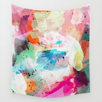 android Wall Tapestries featuring Abstract Color Paint by Jenna Davis Designs