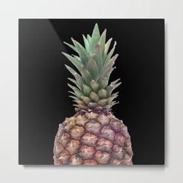 Big Pineapple fruit - black background Metal Print