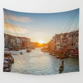 GRAND CANAL SUNSET VENICE ITALY PHOTOGRAPHY Wall Tapestry
