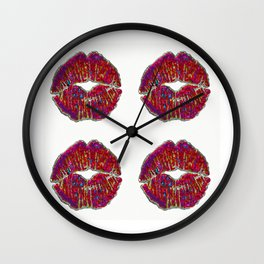 SEALED WITH 4 KISSES Wall Clock
