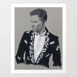 Tom Hiddleston: Dragonflies Art Print