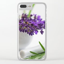 Creative lavender image for healing practice No.2 Clear iPhone Case