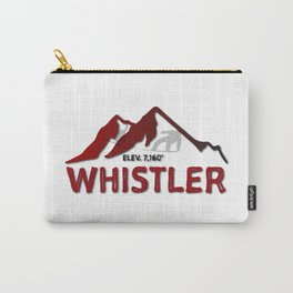 Whistler Canada Ski Snowboard Skiing Snowboarding Resort Blackcomb Carry-All Pouch