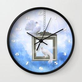 Peace Dove 2 Wall Clock