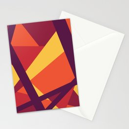 Abstract Modern Bold Geometric Lines Stationery Cards