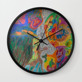 A Good Witch from The Rainbow Coral River Forest in Another World Wall Clock