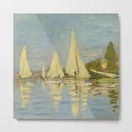 "Claude Monet ""Regattas at Argenteuil"" Metal Print"