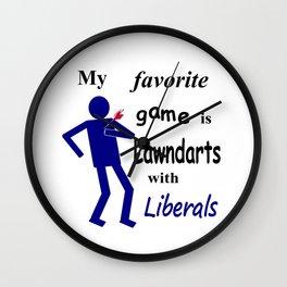 Lawndarts with Liberals Wall Clock