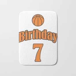 7th Birthday Basketball Funny Boy Girl Kids Gift Bath Mat