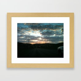Early morning drive Framed Art Print