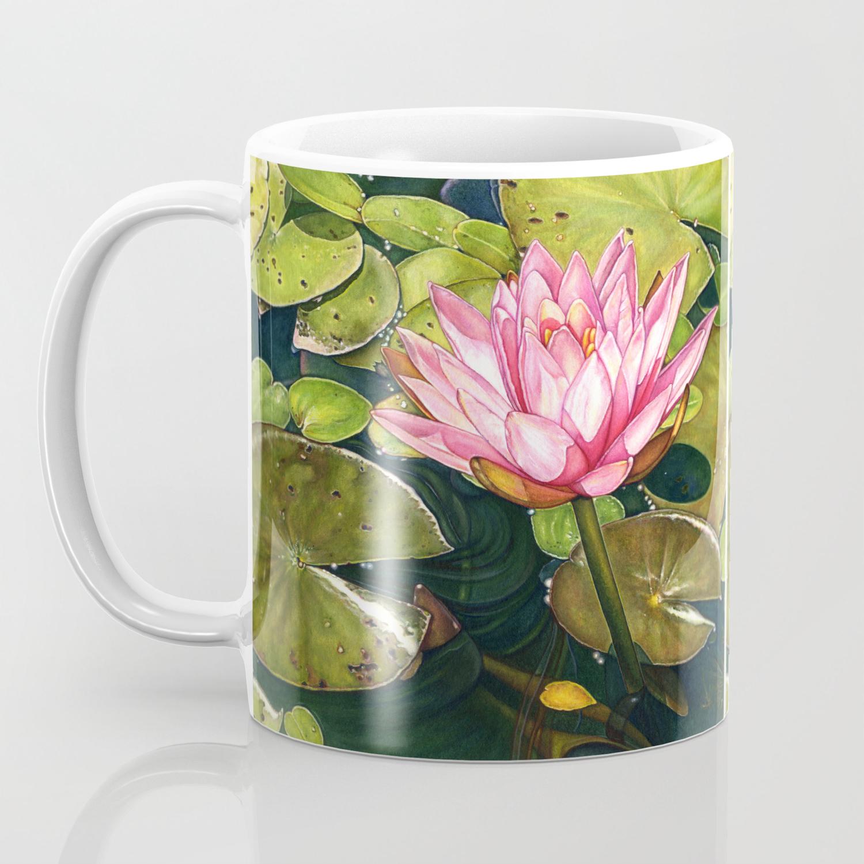 water lily at the biltmore gardens coffee mug